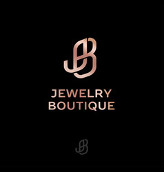Logo j and b jewelry boutique interlocking letters vector
