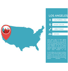 los angeles map infographic vector image