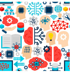 machine learning seamless pattern vector image