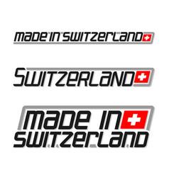 Made in switzerland vector
