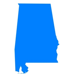 Map of alabama vector