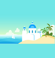Nature landscape greece with vector