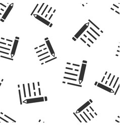 pencil notepad icon seamless pattern background vector image