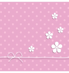 Pink background with flowers vector