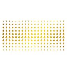 plant leaf gold halftone pattern vector image