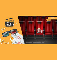 Realistic movie premiere template vector
