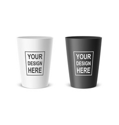 Realistic plastic cup example for office vector