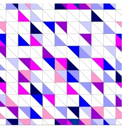 Seamless blue pink violet and white pattern vector image