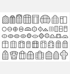 Set of classic and modern windows vector
