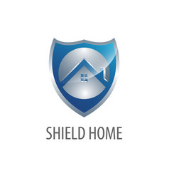 shield home real estate logo concept design vector image
