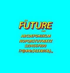slanted 3d sans serif font vector image
