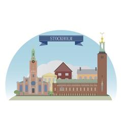 Stockholm vector image