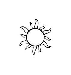 sun hand drawn sketch icon vector image