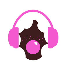 the girl with white hair and freckles headphones vector image