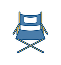 Theatre chair icon vector