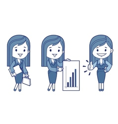 Three characters business women vector
