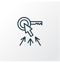 Top keywords icon line symbol premium quality vector