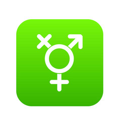 transgender sign icon digital green vector image