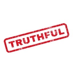 Truthful Rubber Stamp vector image