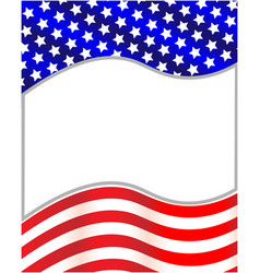 us flag wave pattern frame vector image