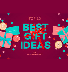 valentines day sale banner best gift ideas gift vector image