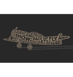 Vintage style plane with calligraphy Vintage tee vector