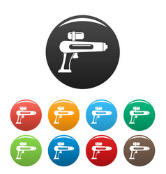 watergun icons set color vector image
