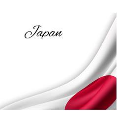 Waving flag on white background vector