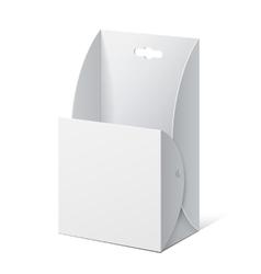 White Cardboard holder for brochures vector image