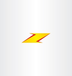 yellow red letter z logo font icon vector image
