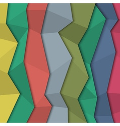 3d colored paper background origami style vector image vector image