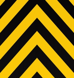 arrow warning stripe vector image vector image