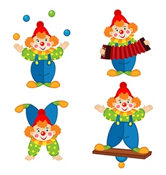 circus clown in action vector image