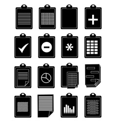 Clipboard icons set vector image vector image