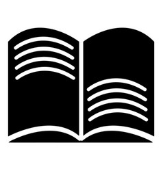 old open magic book icon simple style vector image