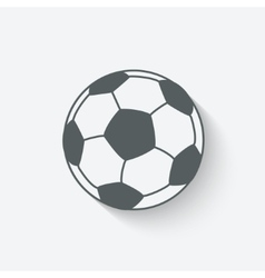 soccer sport icon vector image vector image
