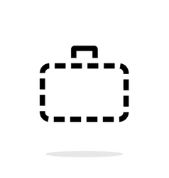 Absence case simple icon on white background vector