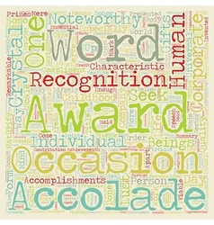 Corporate awards 101 text background wordcloud vector