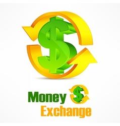 Dollar symbol with arrow vector image vector image