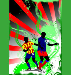 grunge soccer banner colored for designers vector image vector image