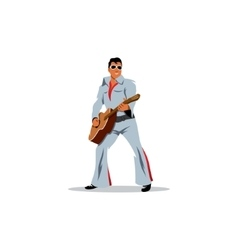 Musician artist with a guitar in the image of vector image