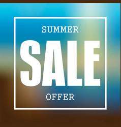 summer sale badge label promo banner template vector image