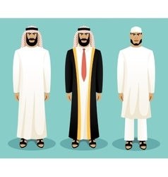 Arabic man wearing traditional clothing vector image
