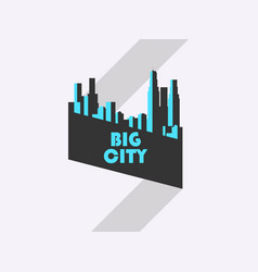 big city banner with ribbon bauhaus style vector image vector image