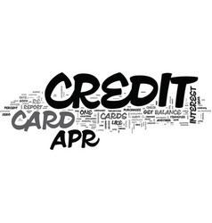 it s easy to find a apr credit card text vector image vector image