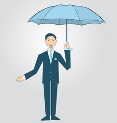 Man Holding Umbrella vector image vector image