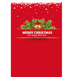 red christmas background greeting card vector image