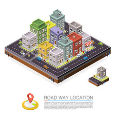 road in the city isometric cityscape location vector image vector image