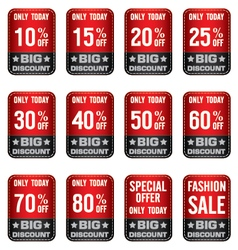 Sale Banner with Red and Grey Many discount price vector image