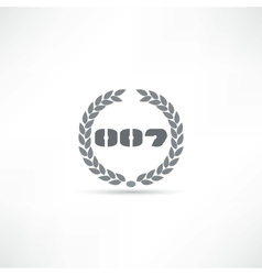 007 icon vector image